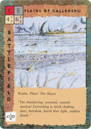 """abyss """"Plains of Gallenshu"""" - by Rob Lazzaretti TSR - """"Blood Wars"""" card game Base Pack (1995) © Wizards of the Coast & Hasbro"""