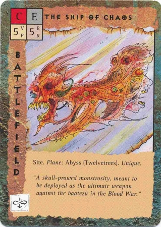 "abyss twelvetrees dodicitronchi ""The Ship of Chaos"" - by Rob Lazzaretti TSR - ""Blood Wars"" card game Base Pack (1995) © Wizards of the Coast & Hasbro"