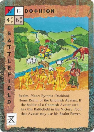 "bytopia ""Dothion"", il reame gnomesco - by David C. Sutherland III TSR - ""Blood Wars"" card game Base Pack (1995) © Wizards of the Coast & Hasbro"