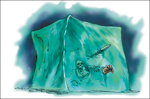 gelatinous cube Cubo Gelatinoso - by Todd Lockwood Monster Manual v3.5 (2003-07) © Wizards of the Coast & Hasbro