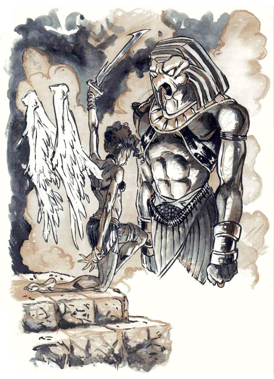 {$tags} Un Aasimon al servizio del dio Horus - by Hannibal King TSR - Warriors of Heaven (1999-09) © Wizards of the Coast & Hasbro