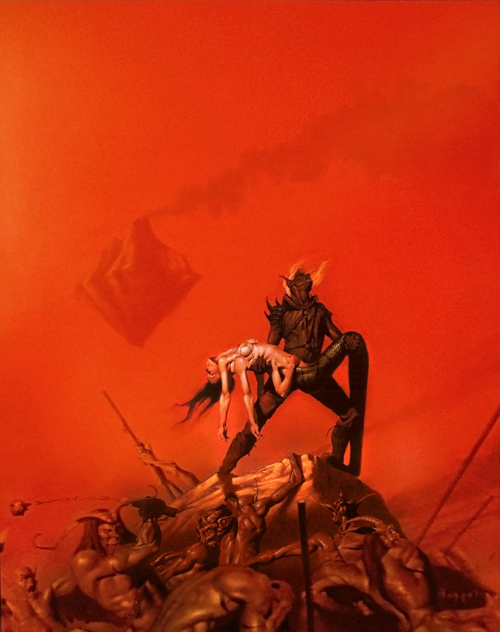 blood war tanar'ri Zaxarus il Cambion e Alamanda la Marilith nell'Abisso (non sembra Gehenna?) - by Robh Ruppel TSR - Planescape Boxed Set - Hellbound, The Blood War (1996-06) © Wizards of the Coast & Hasbro