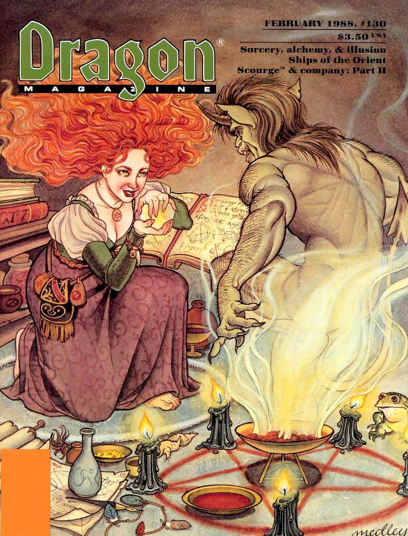 fiend Evocazione di un immondo - by Linda Medley Dragon Magazine #130 (1988-02) © TSR