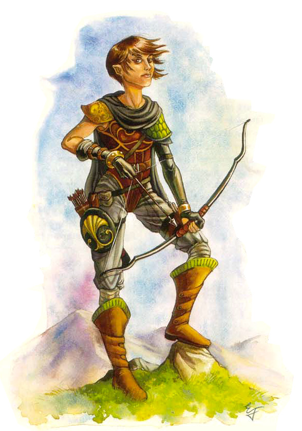 taker fated Halfling degli Avidi - by Emily Fiegenschuh Planar Handbook, A Player's Guide to the Planes (2004) © Wizards of the Coast & Hasbro