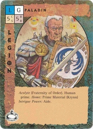 "{$tags} ""Paladin"", paladino guvner del mondo di Krynn - by Paul Jaquays TSR - ""Blood Wars"" card game Pack 2, Factols & Factions (1995) © Wizards of the Coast & Hasbro"