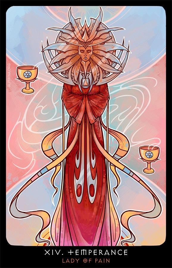"""Alphyna """"XIV - Temperance"""", la Signora del Dolore come """"La Temperanza"""" - by Alphyna (Альфина) alphyna.org (2016-10) © dell'autore tutti i diritti riservati"""
