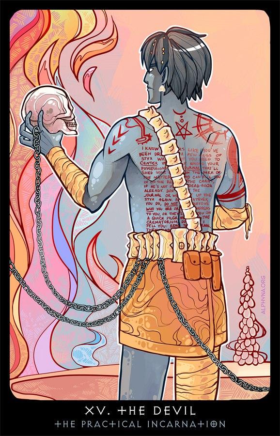 """Alphyna """"XV - The Devil"""", l'Incarnazione Pratica come """"Il Diavolo"""" - by Alphyna (Альфина) alphyna.org (2016-10) © dell'autore tutti i diritti riservati"""