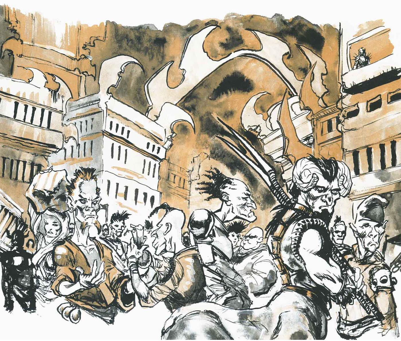 bariaur sigil Bariaur nella Gabbia - by Hannibal King & Adam Rex TSR - Faction War (1998-10) © Wizards of the Coast & Hasbro