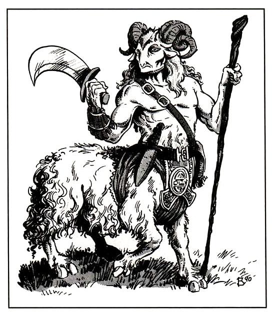 bariaur prima apparizione dei Bariaur - by Thomas Baxa TSR - Monstrous Compendium Appendix, Outer Planes (1991-01) © Wizards of the Coast & Hasbro