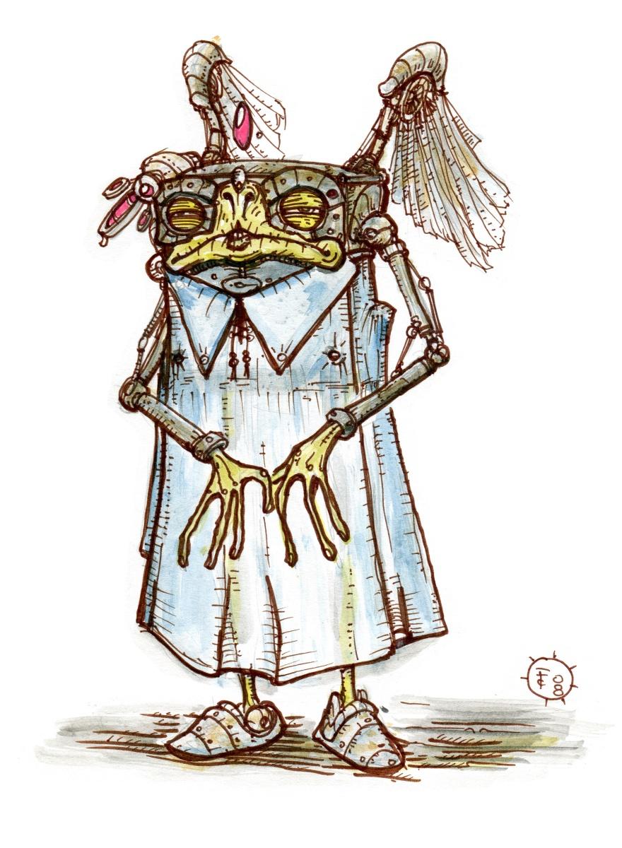 """clone-artist """"Quadrone"""", Hark il modron rinnegato, professione scienziato pazzo - by clone-artist (Filip C.) clone-artist.deviantart.com (2008) © dell'autore tutti i diritti riservati"""