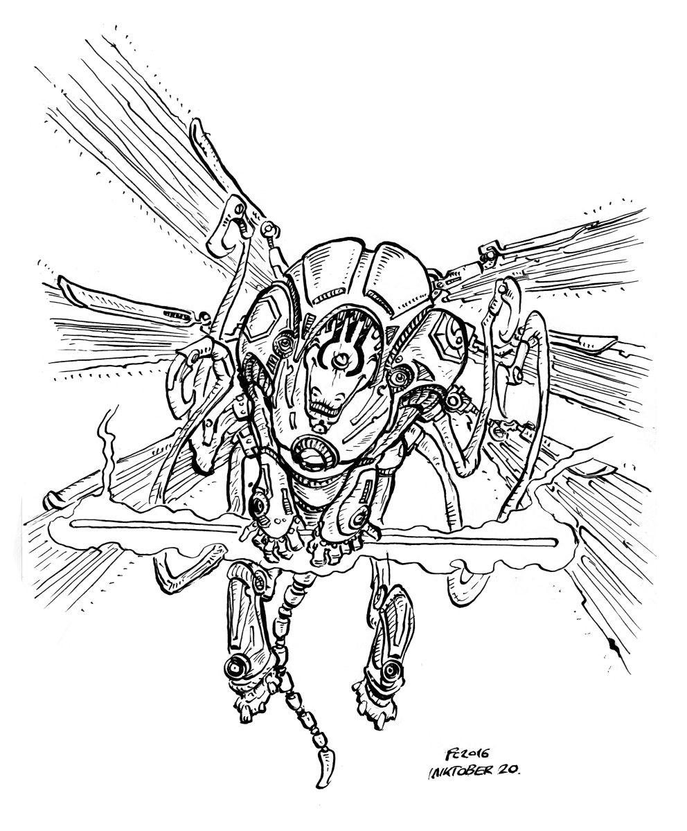 """clone-artist """"Hexon"""" modron, secondo tentativo per l'extone (doodle #20 per Inktober) - by clone-artist (Filip C.) clone-artist.deviantart.com (2016-10) © dell'autore tutti i diritti riservati"""