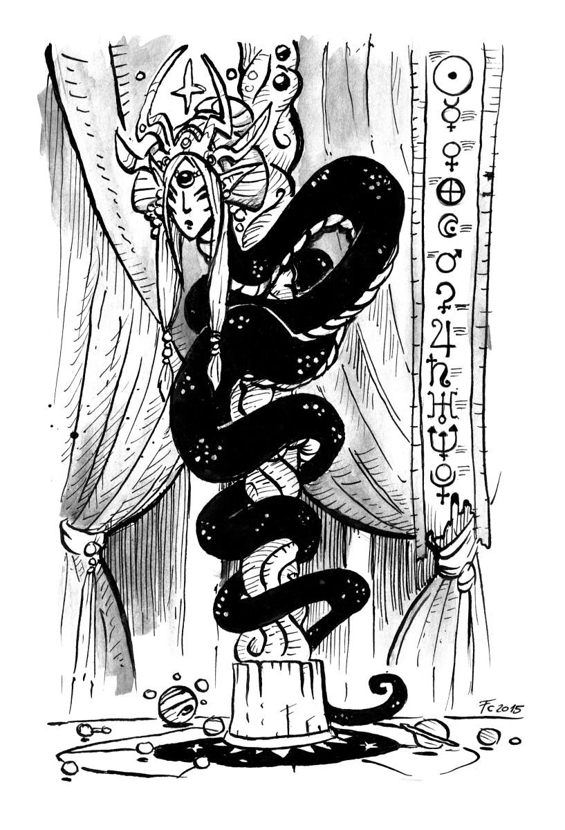 "clone-artist lunar naga ""The Star Coil Queen"", naga lunare - by clone-artist (Filip C.) clone-artist.deviantart.com (2015) © dell'autore tutti i diritti riservati"