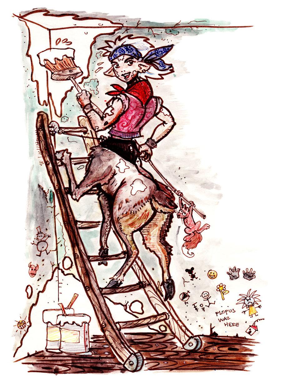 """clone-artist """"Zlyfe the Bariaur"""" - by clone-artist (Filip C.) clone-artist.deviantart.com (2007) © dell'autore tutti i diritti riservati"""
