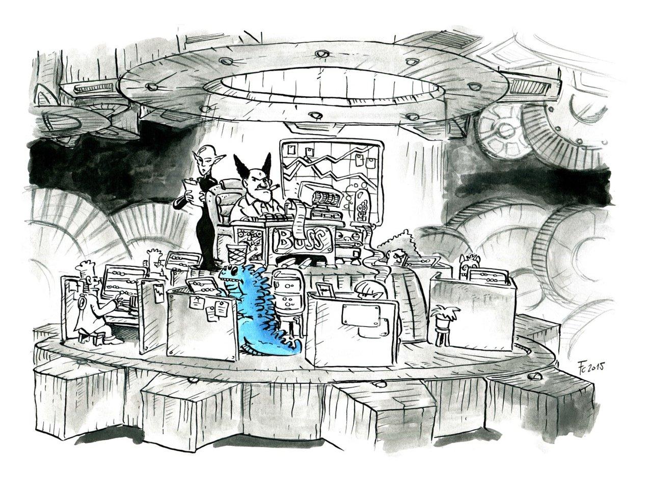"""clone-artist demarax """"The Little Petitioner IV: The Businessman"""", rivisitazione in versione """"Mechanus"""" dei viaggi del //Piccolo Principe// - by clone-artist (Filip C.) clone-artist.deviantart.com (2015-03) © dell'autore tutti i diritti riservati"""