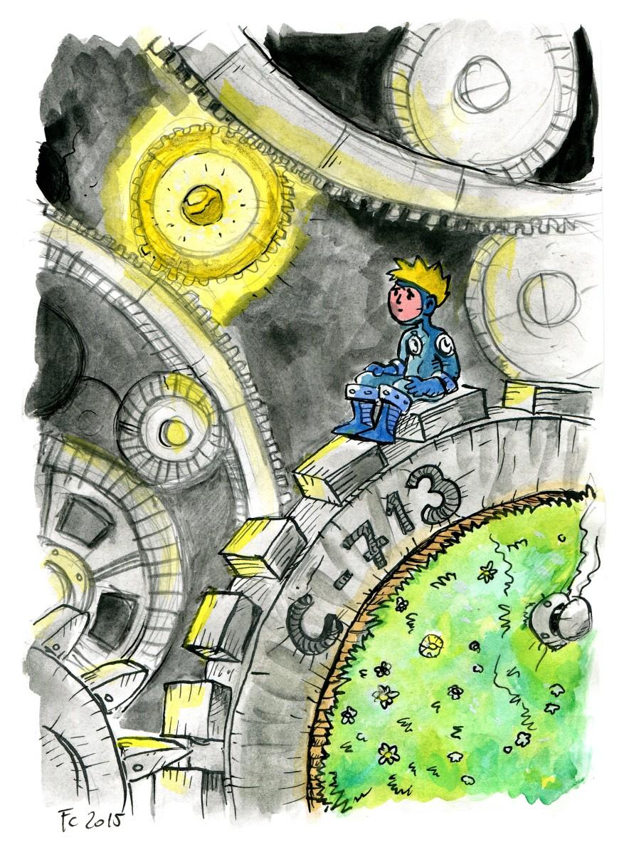 """clone-artist """"The Little Petitioner on his Gear"""", rivisitazione in versione """"Mechanus"""" dei viaggi del //Piccolo Principe// - by clone-artist (Filip C.) clone-artist.deviantart.com (2015-05) © dell'autore tutti i diritti riservati"""
