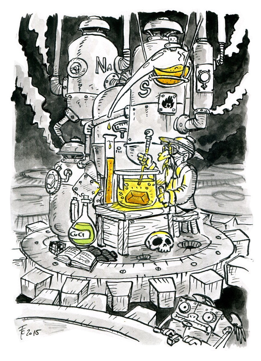 """clone-artist gnome """"The Little Petitioner V: The Alchemist"""", rivisitazione in versione """"Mechanus"""" dei viaggi del //Piccolo Principe// - by clone-artist (Filip C.) clone-artist.deviantart.com (2015-03) © dell'autore tutti i diritti riservati"""