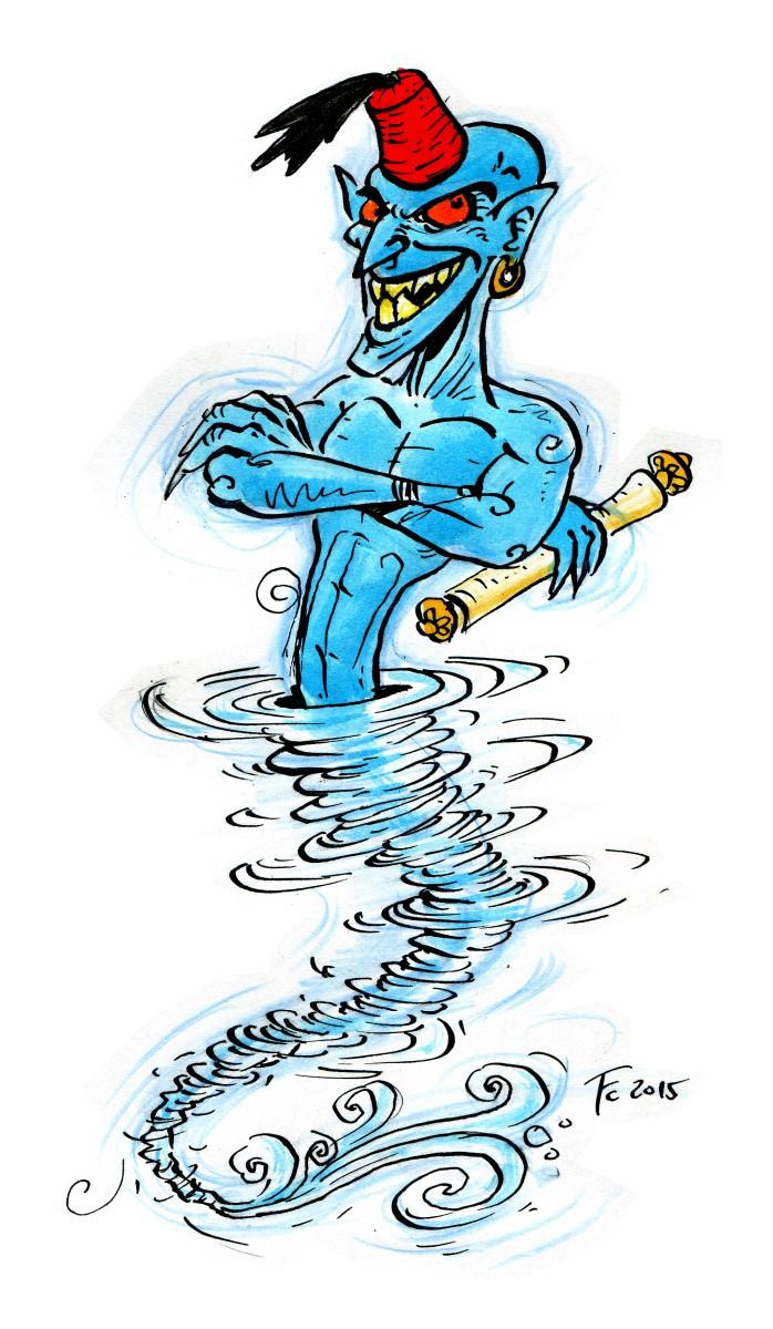 "clone-artist ""I'm a Genie, honest!"", spesso i mephit dell'aria si fingono dei genii... - by clone-artist (Filip C.) clone-artist.deviantart.com (2015-02) © dell'autore tutti i diritti riservati"