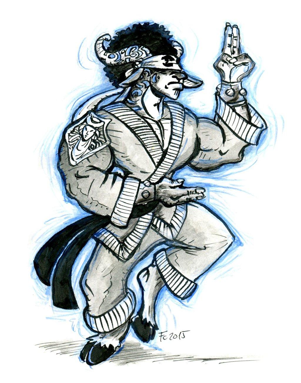 "clone-artist minotaur ""Ringo the Minotaur Monk"", pg fated - by clone-artist (Filip C.) clone-artist.deviantart.com (2015-08) © dell'autore tutti i diritti riservati"