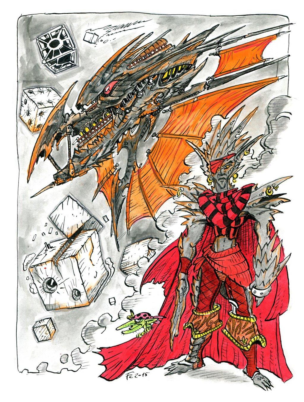 """clone-artist """"The Dread Captain of the Skyship Tetanus"""", Ss'nkkt il lamellin, capitano di un gruppo di mercenari dell'Acheronte - by clone-artist (Filip C.) clone-artist.deviantart.com (2015-02) © dell'autore tutti i diritti riservati"""