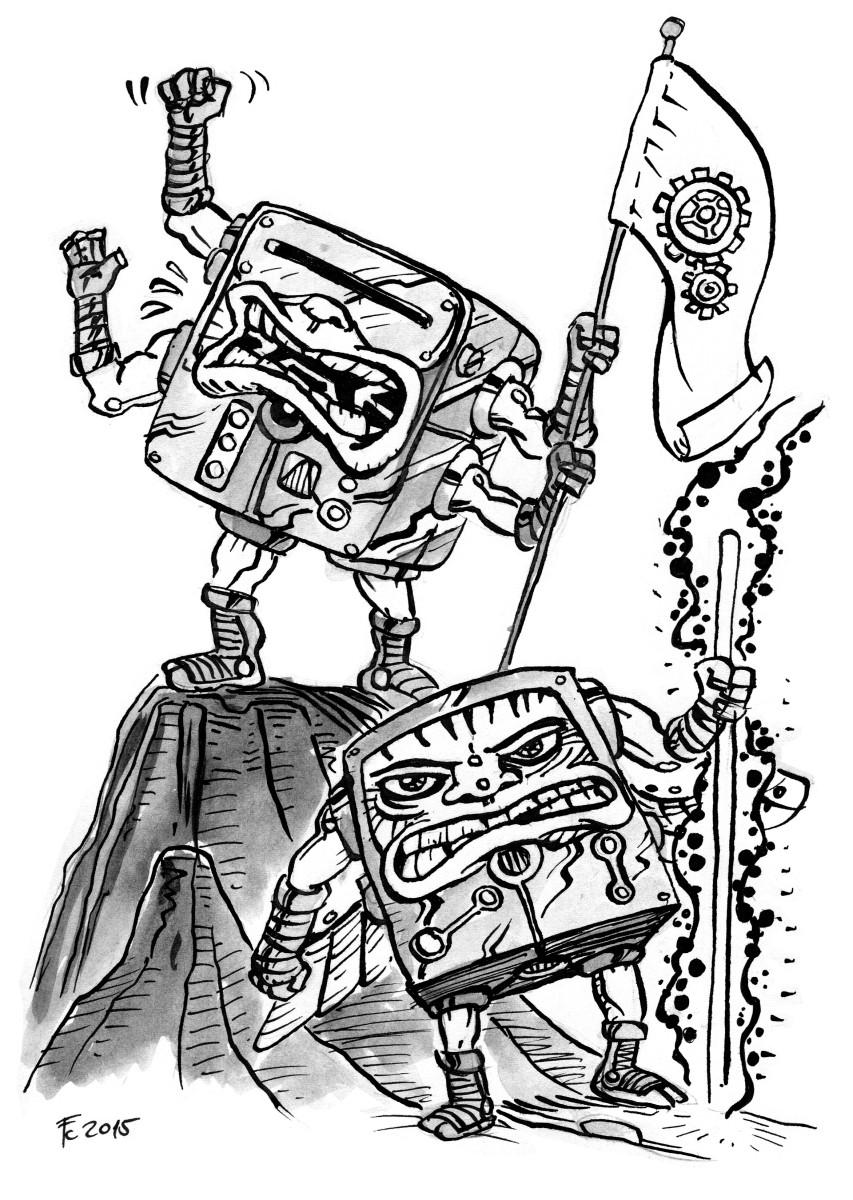 """clone-artist """"Veterans"""", Quadroni veterani della Guerra del Sangue (di stampo Kirbyano) - by clone-artist (Filip C.) clone-artist.deviantart.com (2015-02) © dell'autore tutti i diritti riservati"""