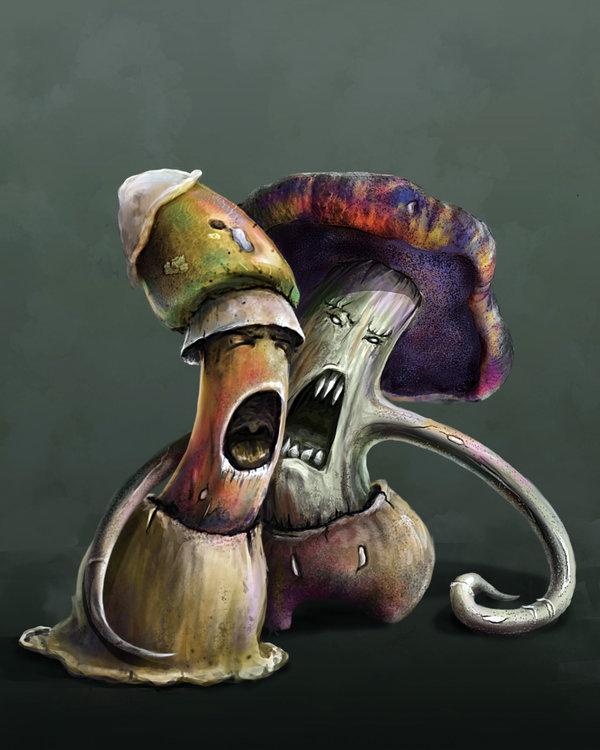 """delhar """"Shrieker and Violet Fungus"""" - by delhar (Yashka) delhar.deviantart.com (2013) © dell'autore tutti i diritti riservati"""