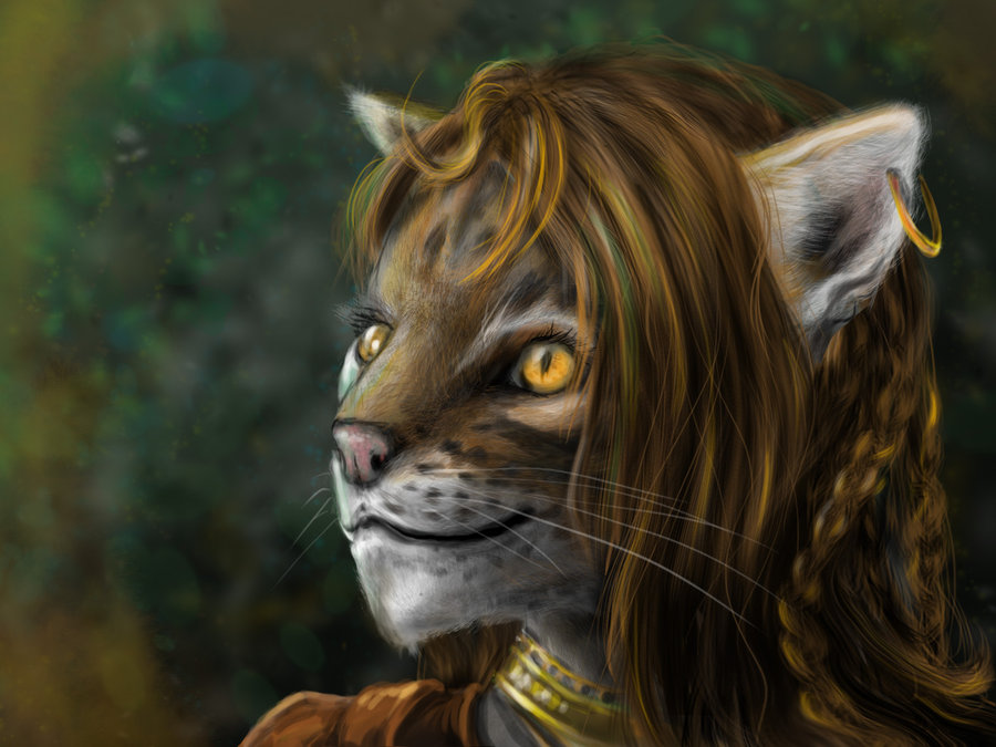 """delhar catfolk """"Cinnamon"""", PG felinide - by delhar (Yashka) delhar.deviantart.com (2012) © dell'autore tutti i diritti riservati"""