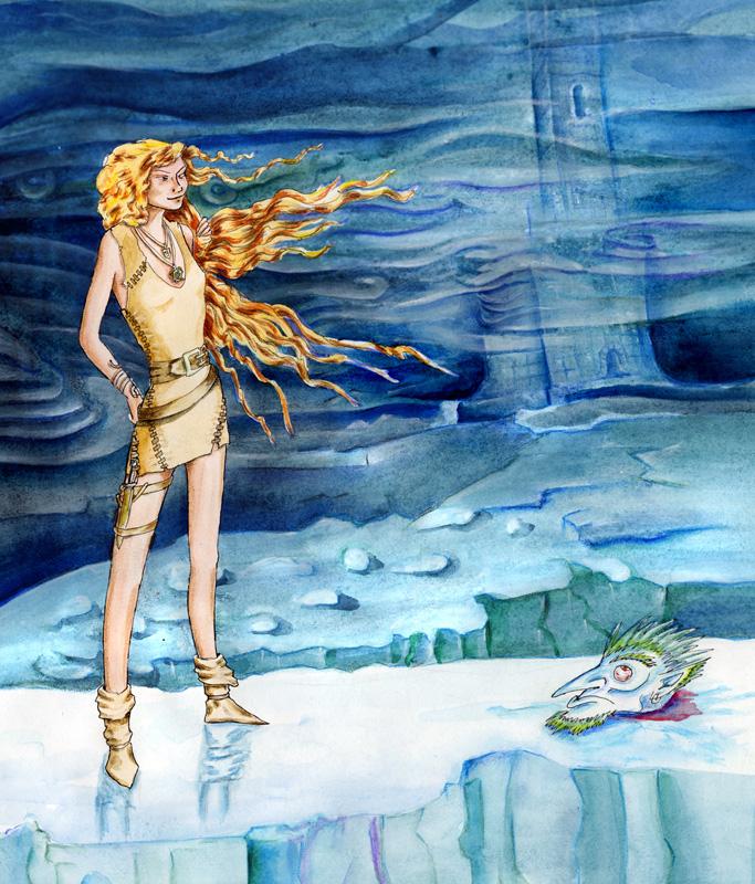 """delhar """"Cold Immunity"""", Kaleh sul piano paraelementale del ghiaccio - by delhar (Yashka) delhar.deviantart.com (2011) © dell'autore tutti i diritti riservati"""