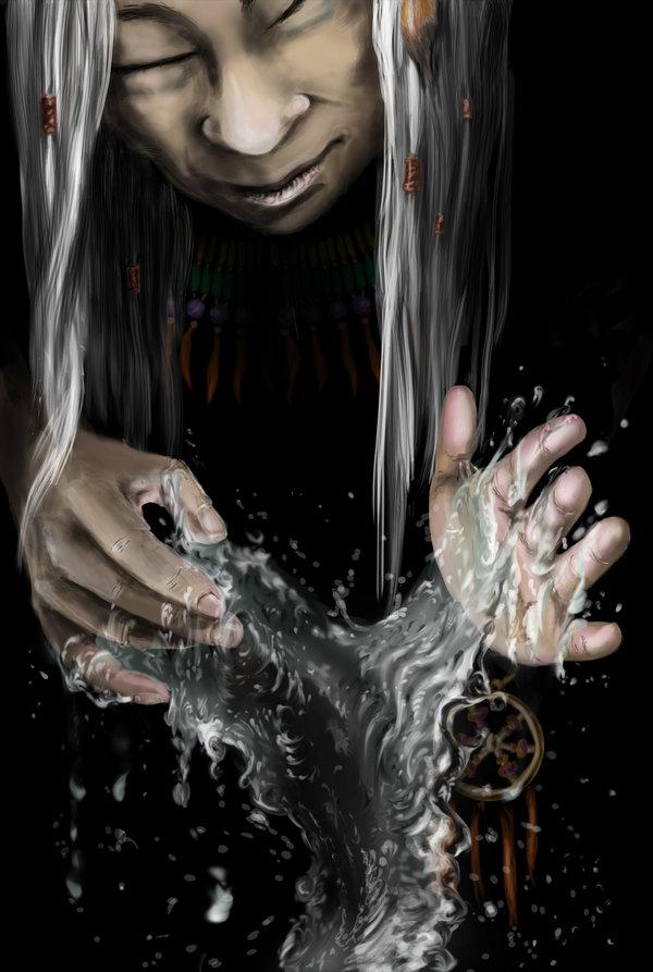 """delhar """"Create Water Spell"""", incantesimo clericale - by delhar (Yashka) delhar.deviantart.com (2012) © dell'autore tutti i diritti riservati"""