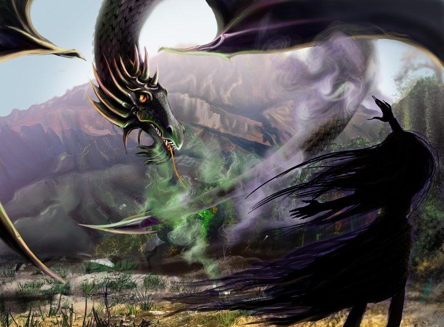 """delhar """"Dragon's Here"""", combattimento col drago - by delhar (Yashka) delhar.deviantart.com (2012) © dell'autore tutti i diritti riservati"""