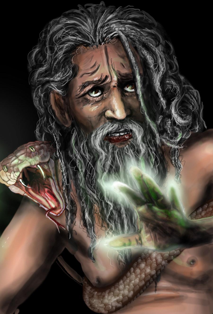 """delhar """"Purana the Doomguard"""", chierico di Shhiva mentre porta la Nave del Caos verso il Quasipiano del Vuoto - by delhar (Yashka) delhar.deviantart.com (2011) © dell'autore tutti i diritti riservati"""