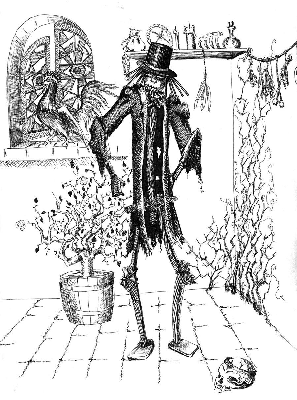 "delhar ""Scarecrow Golem"" - by delhar (Yashka) delhar.deviantart.com (2011) © dell'autore tutti i diritti riservati"