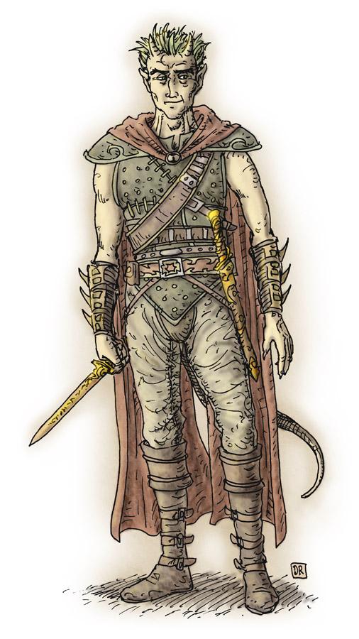 """domigorgon """"Caylean of the Athar"""", uno dei perduti - by Domigorgon (Domagoj Rapčak) domigorgon.blogspot.com (2010-04) © dell'autore tutti i diritti riservati"""