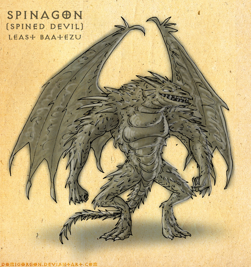 """domigorgon """"Lesser Devils 04: Spinagon"""" - by Domigorgon (Domagoj Rapčak) domigorgon.deviantart.com (2010-06) © dell'autore tutti i diritti riservati"""