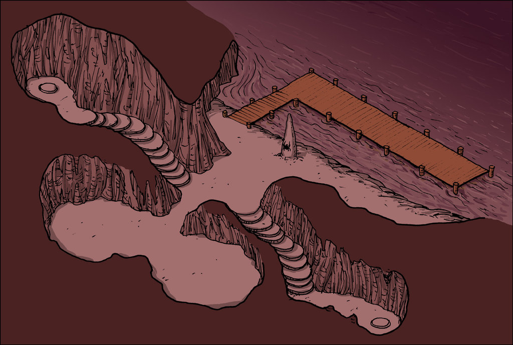 """domigorgon """"Citadel of the Planes - Abyss"""", la Cittadella dei Piani, direttamente dalle mappe del manuale """"Stronghold Builder's Guidebook"""" - by Domigorgon (Domagoj Rapčak) domigorgon.deviantart.com (2017-01) © dell'autore tutti i diritti riservati"""