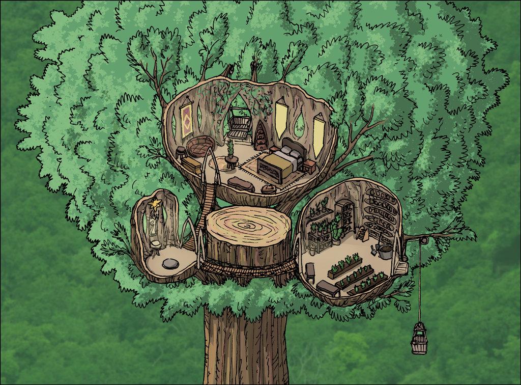 """domigorgon """"Citadel of the Planes - Arborea"""", la Cittadella dei Piani, direttamente dalle mappe del manuale """"Stronghold Builder's Guidebook"""" - by Domigorgon (Domagoj Rapčak) domigorgon.deviantart.com (2017-03) © dell'autore tutti i diritti riservati"""