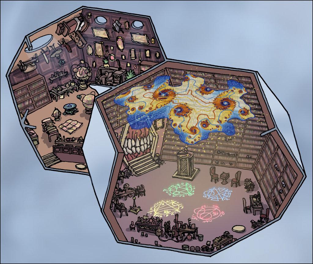 """domigorgon """"Citadel of the Planes - Astral"""", la Cittadella dei Piani, direttamente dalle mappe del manuale """"Stronghold Builder's Guidebook"""" - by Domigorgon (Domagoj Rapčak) domigorgon.deviantart.com (2017-02) © dell'autore tutti i diritti riservati"""