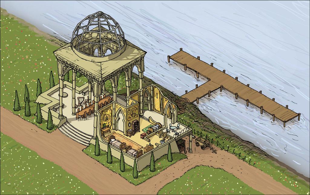 """domigorgon """"Citadel of the Planes - Elysium"""", la Cittadella dei Piani, direttamente dalle mappe del manuale """"Stronghold Builder's Guidebook"""" - by Domigorgon (Domagoj Rapčak) domigorgon.deviantart.com (2017-02) © dell'autore tutti i diritti riservati"""