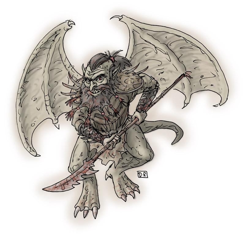 """domigorgon """"Lesser Devils 02: Barbazu"""" - by Domigorgon (Domagoj Rapčak) domigorgon.blogspot.com (2010-08) © dell'autore tutti i diritti riservati"""
