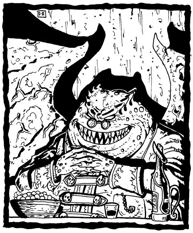 "domigorgon ""The King of Sigil (?)"", un demoniaco paeliryon - by Domigorgon (Domagoj Rapčak) domigorgon.blogspot.com (2010-03) © dell'autore tutti i diritti riservati"