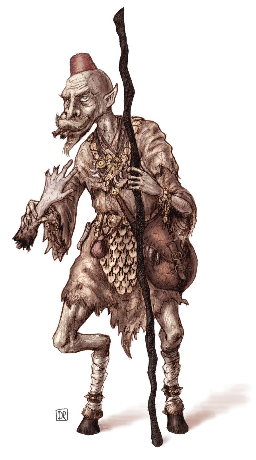 """domigorgon """"Ghul sorcerer"""", PG su commissione per Clone-Artist - by Domigorgon (Domagoj Rapčak) domigorgon.deviantart.com (2012) © dell'autore tutti i diritti riservati"""