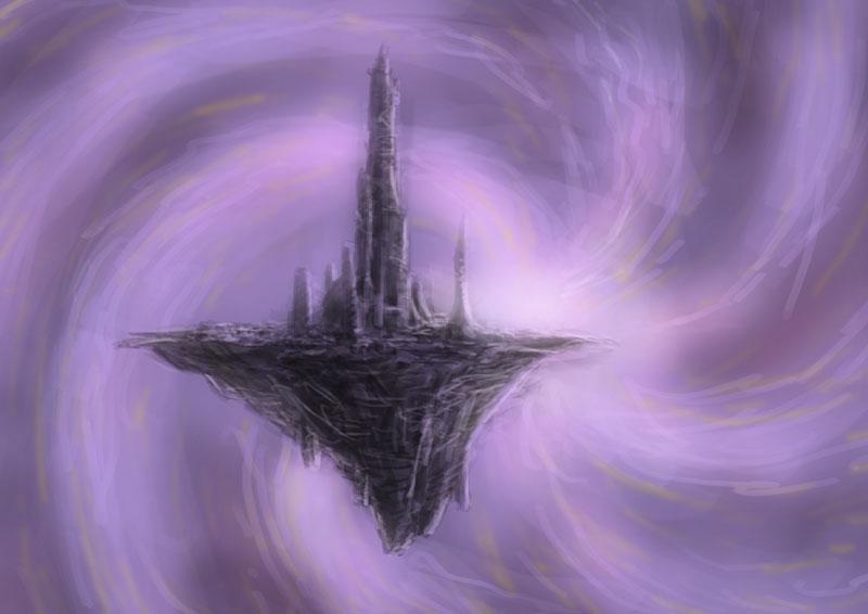 """domigorgon """"Speed flying castle"""", schizzo di semipiano - by Domigorgon (Domagoj Rapčak) domigorgon.blogspot.com (2009-01) © dell'autore tutti i diritti riservati"""