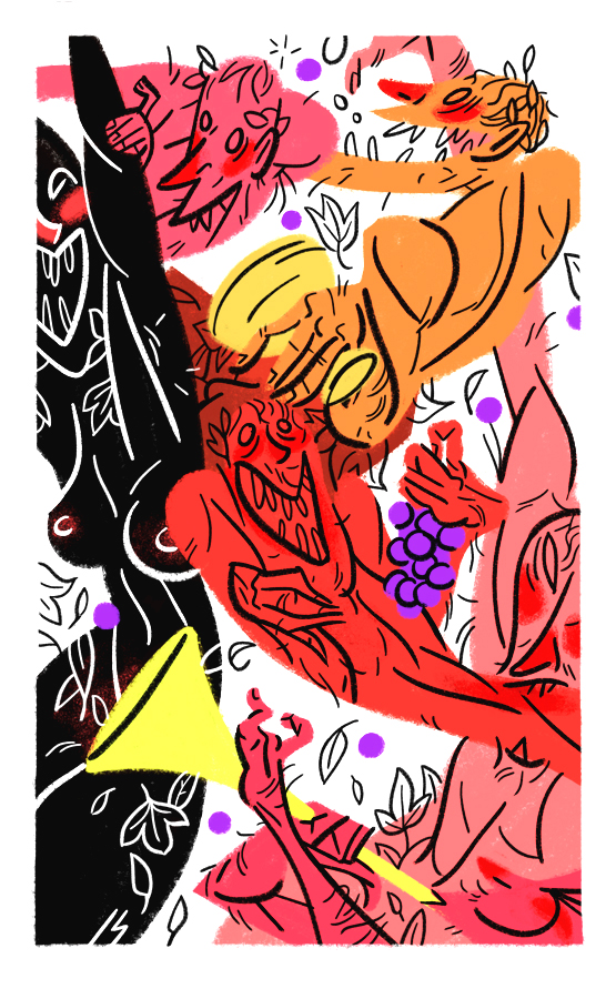 "dungeonsanddrawings ""Bacchae"", le baccanti - by Joe Sparrow dungeonsanddrawings.blogspot.com (2012-01) © dell'autore tutti i diritti riservati"