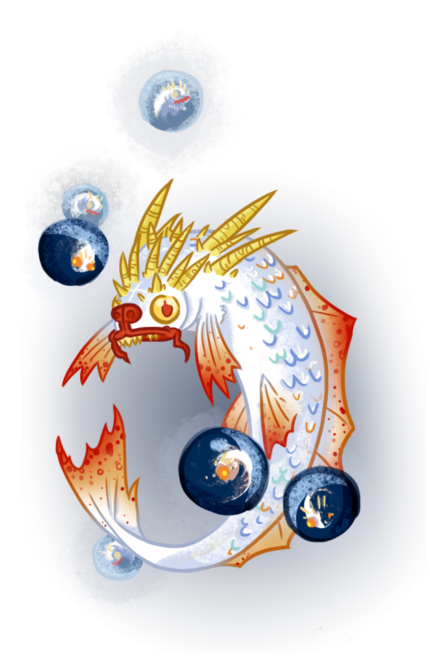 "dungeonsanddrawings ""Carp Dragon (Yu-Lung)"" - by Blanca Martinez de Rituerto dungeonsanddrawings.blogspot.com (2011-09) © dell'autore tutti i diritti riservati"