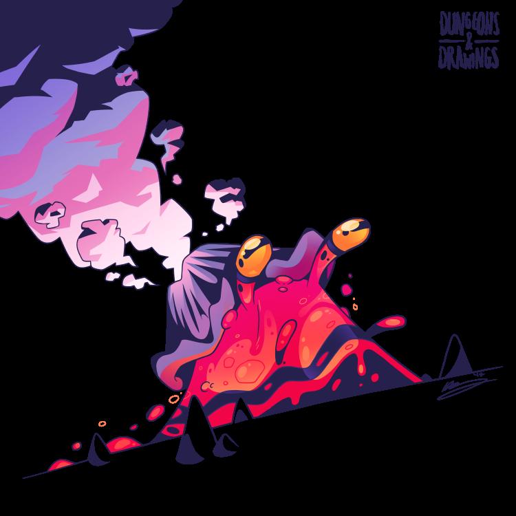 "dungeonsanddrawings ""Lava Ooze"" - by Blanca Martinez de Rituerto dungeonsanddrawings.blogspot.com (2017-10) © dell'autore tutti i diritti riservati"