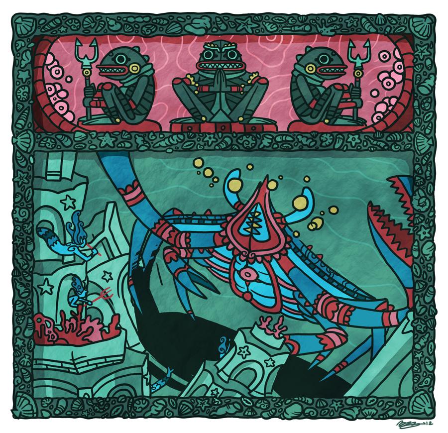 "dungeonsanddrawings ""Siege Crab"" - by Blanca Martinez de Rituerto dungeonsanddrawings.blogspot.com (2012-04) © dell'autore tutti i diritti riservati"