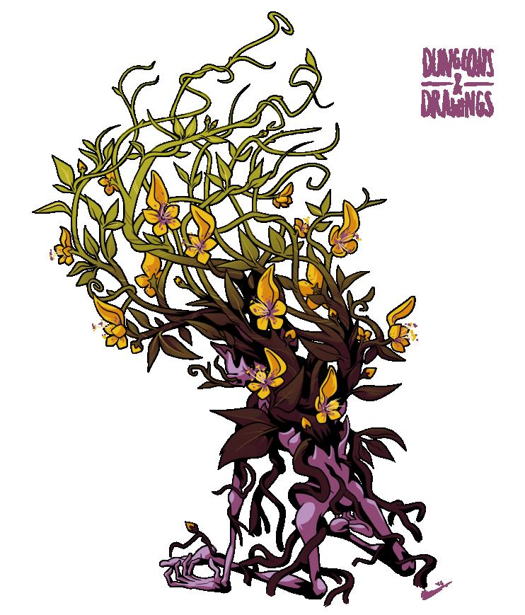 "dungeonsanddrawings ""Yellow Musk Creeper"" - by Blanca Martinez de Rituerto dungeonsanddrawings.blogspot.com (2016-03) © dell'autore tutti i diritti riservati"