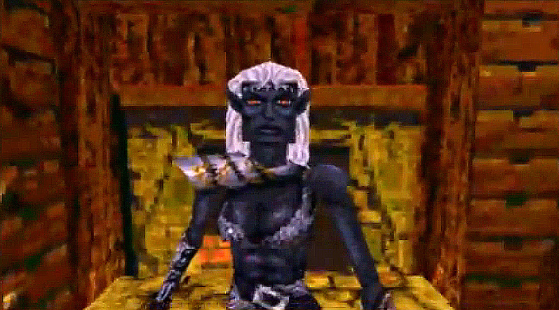 dark elf Elfa scura in 3D! Videogame: Descent to Undermountain (1997-12) © Interplay, Wizards of the Coast & Hasbro