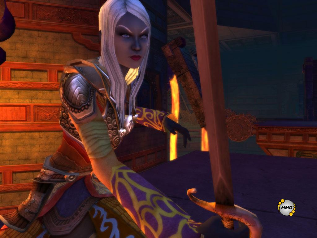 d&d dark elf mmorpg Drow di Eberron nel mmorpg d&d Stormreach Videogame: Dungeons & Dragons Online, Stormreach (2006-02) © Atari, Wizards of the Coast & Hasbro