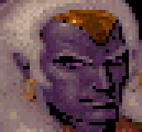 d&d dark elf drow pixelart Drizzt, portrait Videogame: Menzoberranzan (1994-12) © SSI, Wizards of the Coast & Hasbro