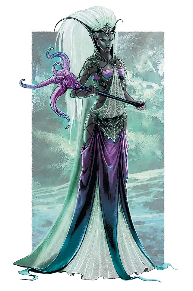 d&d dark elf Personalità drow, Eclavdra - by Eva Widermann Monster Manual 3 (2010-06) © Wizards of the Coast & Hasbro